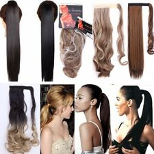 UK Ladies Synthetic Clip In Ponytail Tail Hair Extension Wrap Around Hair Piece