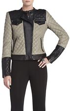 BCBGMAXAZRIA QUILTED LEATHER JACKET NWT. AVAILABLE IN SIZES S AND M