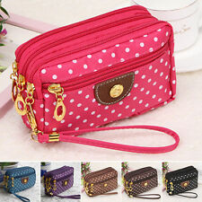 2017 Womens Cloth Zip Fashion Wallet Clutch Card Holder Coin Purse Small Handbag