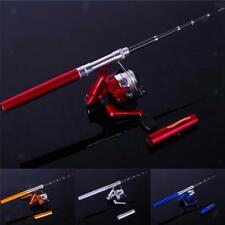Mini Pen Fishing Tackle Rod Portable Pocket Aluminum Carbon Telescopic Pole Reel