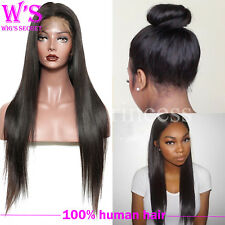 Real Remy Indian Virgin Human Hair Full Lace Wig 360 Lace Wig Baby Hair Around