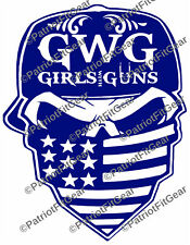 Girls With Guns,Skull Bandanna,Molon Labe,Come And Take It,Sticker,Vinyl Decal