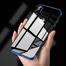 For iPhone X 7 Plus Edition Case Electroplate Clear Soft TPU Hybrid Slim Cover