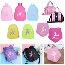 Girl Kids Gymnastics Dance Ballet Duffel Bag Backpack Ballerina Embroidered Tote