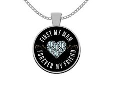 Mother Daughter Necklace and Pendant - Jewelry Gifts for Mom Birthday Valentine