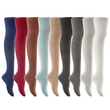 Lian LifeStyle Women 1 Pair Thigh High Over Knee Cotton Socks JMYP1025 Size 6-9