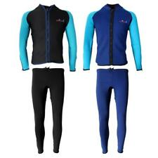Mens Full Body 2mm Wetsuit Jacket Top Surf Surfing Neoprene Pants SCUBA Dive