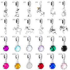 European Alloy Animal Crystal Silver Charms Bead Pendant Fit 925 Bracelets Chain