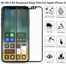 9H Tempered Glass Film For Apple iPhone X HD Clear Screen Protector Cover Lot