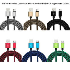 1/2/3M Universal Fast Charger Micro USB Data Cables For Samsung Android Phones