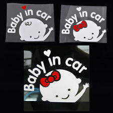 Cartoon Car Stickers Reflective Styling Baby In Car Warming Stickers Decal PL