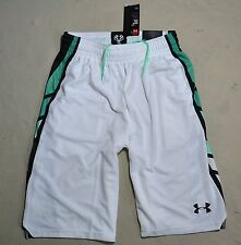 NWT MENS UNDER ARMOUR SHORT LENGTH BASKETBALL ACTIVE ATHLETIC SHORTS SZ MEDIUM