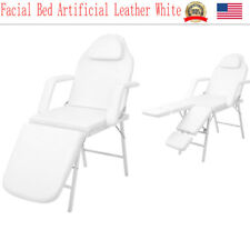 """73""""L Portable White Fold Massage Table Facial SPA Beauty Bed Tattoo Carry Bag"""