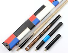 3/4 Snooker Cue 3 4 Top Black Natural Burl Handmade Pool Cues and Case Extension