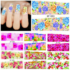 FX- Flowers Pattern DIY Nail Art Stickers Self-Adhesive Water Manicure Tool Late