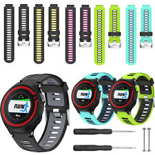 Silicone Watch Band Strap w/Tool for Garmin Forerunner 220/230/235/620/630/735TX