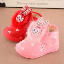 Cute Rabbit Toddler Girls Warm Shoes Infant Baby Snow Boots Princess Booties Fur