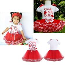 Baby Girl Christmas Costume Candy Princess Party Pageant Casual Tutu Tulle Dress