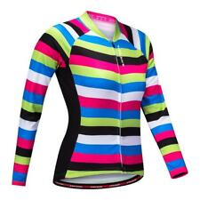 Womens Cycling Jersey Long Sleeve Winter Thermal Cycling Clothing Zip Jacket