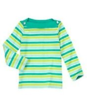 NWT Gymboree Girls Color Happy Green Striped Top Size 4 & 5