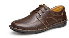 Men's Genuine Leather Luxury Shoes Casual Flats Business Dress Work Office 2017