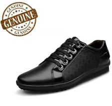 Men's Genuine Leather Luxury Shoes Casual Lace Up Sneakers Footwear Low Top New
