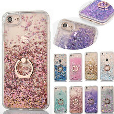 For iPhone 7 6S Plus Glitter Sparkle Bling Shiny Soft TPU Stand Skin Case Cover