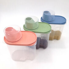 Plastics Airtight Food Storage Container Keeps Food Fresh Dry(Pink,Green,Blue)
