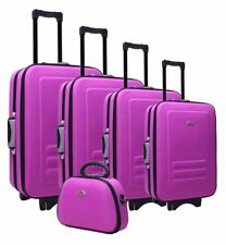 NEW 5pc Suitcase Trolley Travel Bag Luggage Set PURPLE
