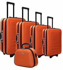 NEW 5pc Suitcase Trolley Travel Bag Luggage Set ORANGE