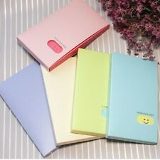 Cute 120Pockets Photo Album Smile Face ID Business Card Holder Book Showy