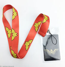 Wonder Woman Lanyard DC Superhero Cell Phone Rope Neck Strap Red KeyChain Gifts