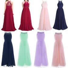 Flower Girls Princess Prom Gown Dress Baby Kids Wedding Pageant Party Bridesmaid