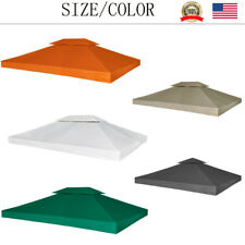 10'x13'/10'x10' Replacement Canopy Top Patio Gazebo Sunshade Polyester Cover