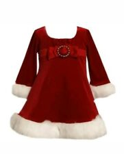 New Baby Girl Bonnie Jean Christmas Santa Dress Red Size 18 months so cute