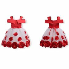 Flower Girl Princess Dress Kid Party Pageant Wedding Bridesmaid Cosplay Costume^