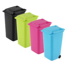 Mini Wheelie Bin Desk Tidy Office Desktop Stationery Organiser Pencil Holder WR
