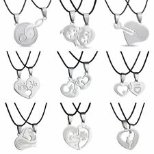 Charming Heart Love Family Couple Lovers Pendant Necklace Chain Jewelry Gift Hot