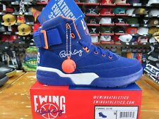 "PATRICK EWING ATHLETICS 33 HI Royal Suede/White/Orange ""OG"" 1EW90013-449"