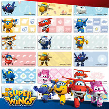 96+36 FREE Super Wings Personalised Name Label Sticker Dishwasher Safe