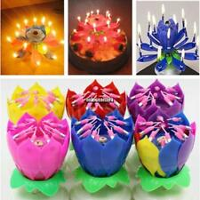 Fashion Lotus Flower Festival Birthday Cake Decorative Music Candles ONMF 03
