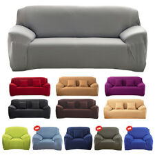 Universal Stretch Elastic Fabric Sofa Cover Slipcover Sectional Couch Washable