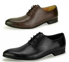 New Mens Fashion Black Leather Oxford Shoes Formal Smart UK Size 6 7 8 9 10 11
