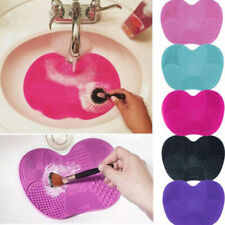 Silicone Makeup Brush Cleaner Cleaning Cosmetic Scrubber Board Mat Pad Tool QU
