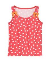 NWT Gymboree Girls Red Pink Polka Dot Bow Tank Top Size 4 5 6 7 & 8