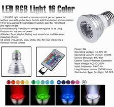 E27 3W RGB LED 16 Colors Multicolor Changing Lamp Light Bulb + IR Remote Control