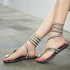 Luxury Crystal Women Sandals Ankle Wrap