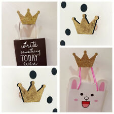 AL_ Nordic Crown Shape Hook Wall Hangers Rack Organizer Kids Room Hanging Decor