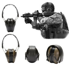 Electronic Ear Muffs Protection Hunting Sport Tactical Noise Canceling Outdoor