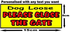 Personalised PLEASE CLOSE shut THE GATE House Garden Property METAL SIGN 15x6cm